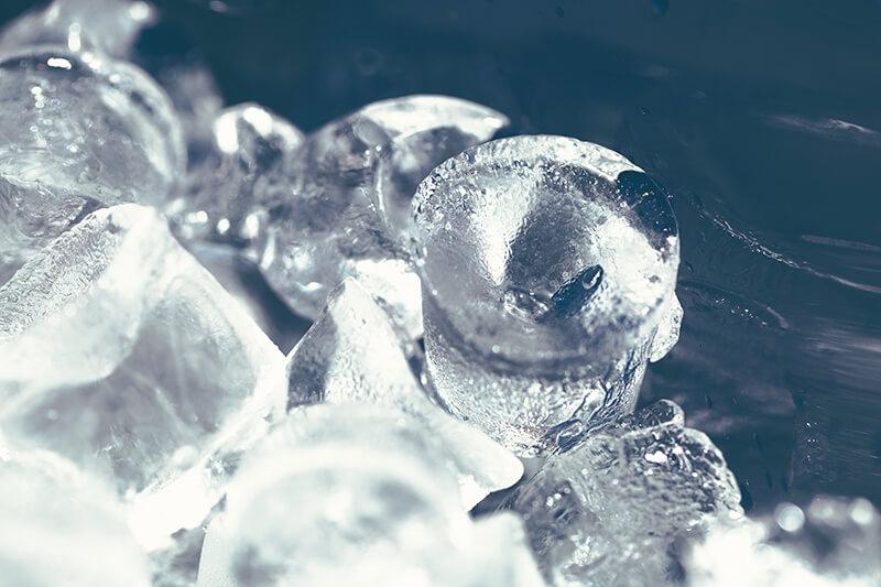 ghiaccio brufoli