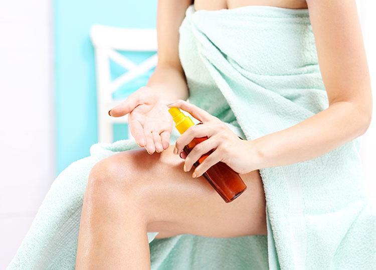 olio per detergere la pelle dopo la tintarella