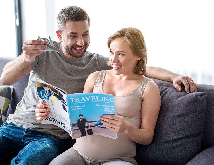 viaggiare con l'aereo in gravidanza