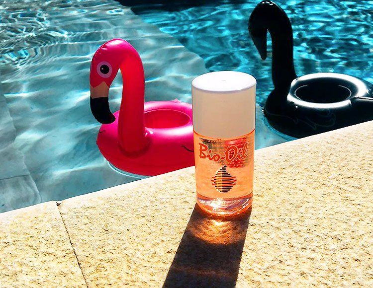 bio-oil per la cura della pelle in estate