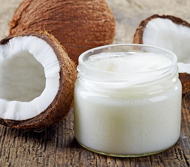 olio di cocco in barattolo